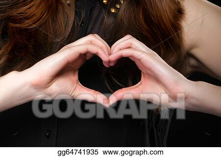 Stock Photo Girl Doing Heart Shape Love Symbol With Her Hands Stock Photos Gg64741935 Gograph