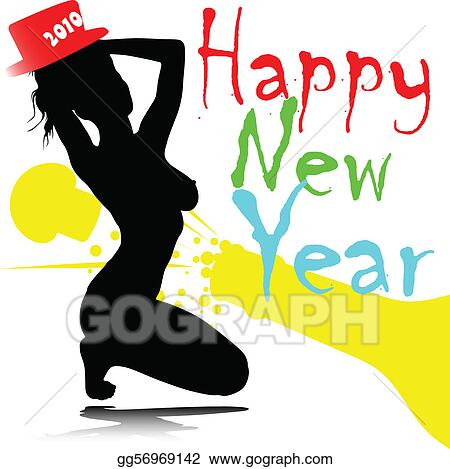 girl from new year party vector