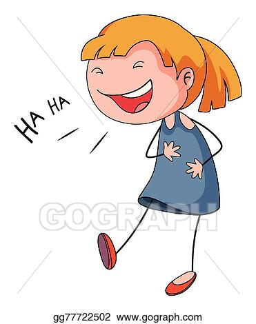 vector stock girl laughing clipart illustration gg77722502 gograph rh gograph com laughing clip art moving free laughling clipart free