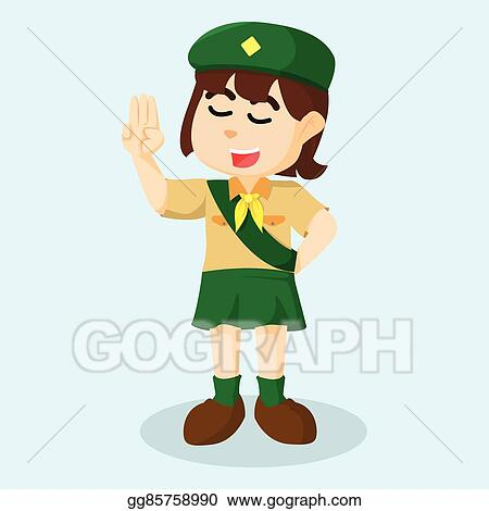 girl scout clip art royalty free gograph rh gograph com girl scout clipart black and white girl scout daisy clipart