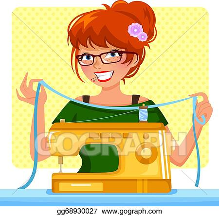 Sewing Machine Clip Art Royalty Free GoGraph Extraordinary Sewing Machine Clip Art Free