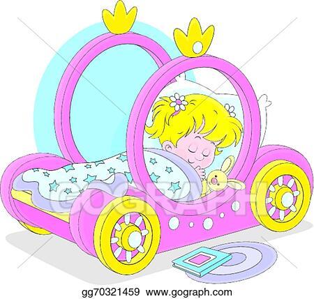 vector art girl sleeping eps clipart gg70321459 gograph rh gograph com Princess Throne Princess Party Clip Art