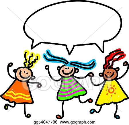 drawing girl talk clipart drawing gg54047786 gograph rh gograph com don't talk clipart don't talk clipart