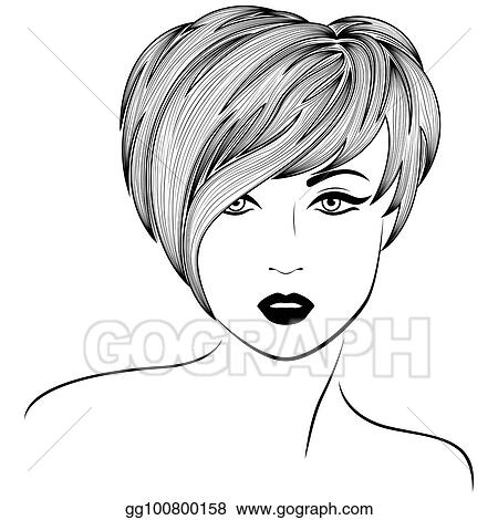 Drawings of girls stylish. Vector art girl with