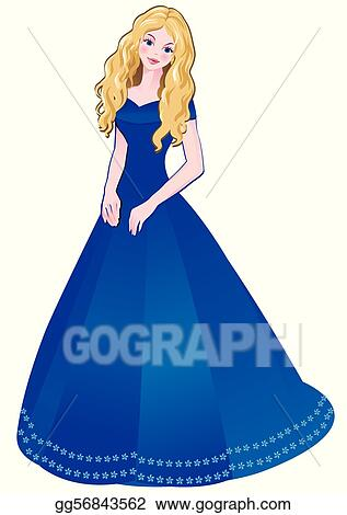 Vector Illustration Girl Eps Clipart Gg56843562 Gograph