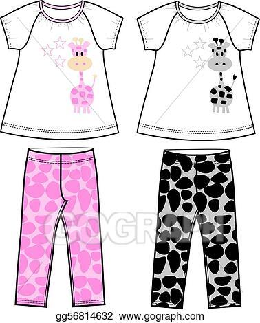 9b6c498d363e4 Stock illustration girls set clipart drawing gograph jpg 378x470 Leggings  clipart girls