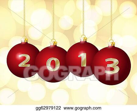 Christmas Chain Clipart.Vector Clipart Glass Christmas Balls 2013 Vector
