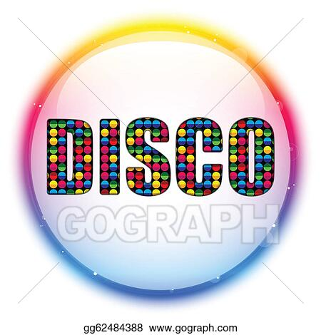 vector illustration glass circle color disco ball eps clipart rh gograph com disco clip art borders disco clip art images