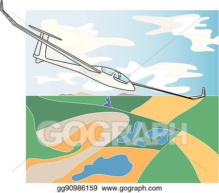 vector art glider sailplane illustration eps clipart gg90986159