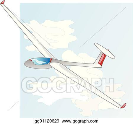 vector art glider sailplane illustration eps clipart gg91120629