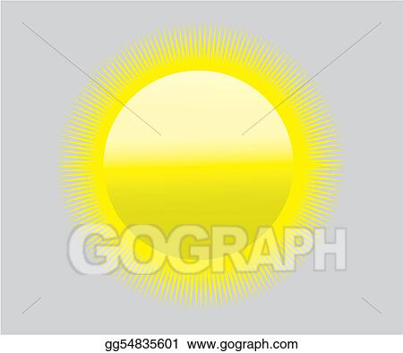 Vector Illustration Global Warming Sun Icon Symbol Heat Drought
