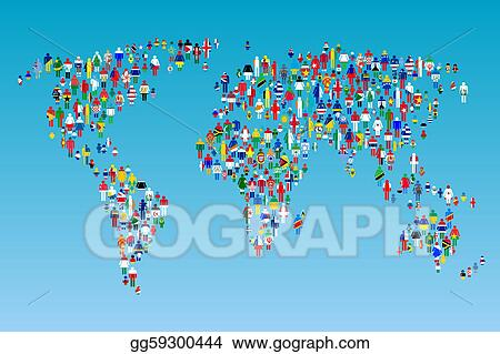Clip art globalisation world map with people made from flags globalisation world map with people made from flags gumiabroncs Gallery