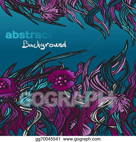 Vector Art Gloomy Background Of Dark Abstract Plants Clipart Drawing Gg70045541 Gograph