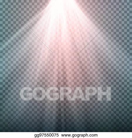 Clip Art Vector - Glow light effect  beam rays vector