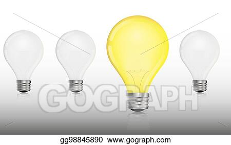 Vector stock glowing and turned off electric light bulb clipart glowing and turned off electric light bulb publicscrutiny Images