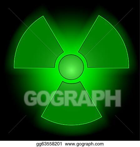 Vector Art Glowing Radioactive Symbol Eps Clipart Gg63558201
