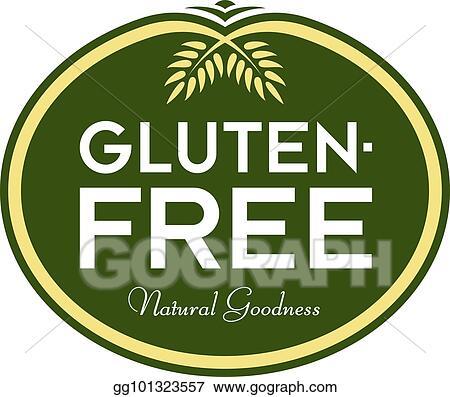 EPS Vector - Gluten-free natural goodness logo symbol  Stock