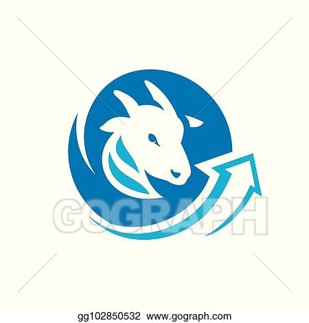 Vector Stock - Goat meat trade sign  Stock Clip Art gg102850532