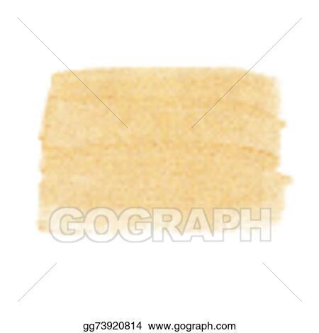 Vector Stock - Gold acrylic paint vector banner  Stock Clip Art