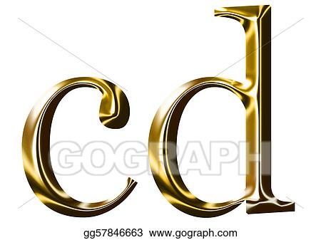 Drawing Gold Alphabet Symbol C D Clipart Drawing Gg57846663