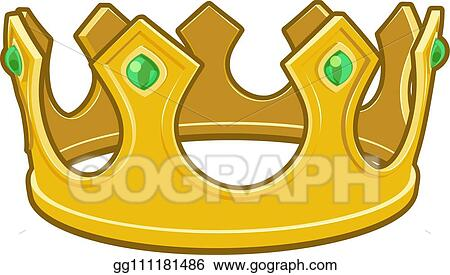 Vector Illustration Gold Cartoon Kings Crown Stock Clip Art Gg111181486 Gograph