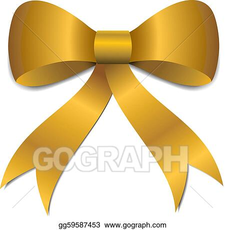 gold christmas bow illustration