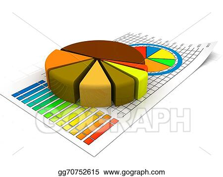 stock illustration gold data charts business pie chart clip art