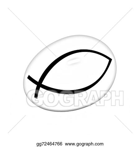 Stock Illustration Gold Egg With A Symbol Of Christianity Ichthys