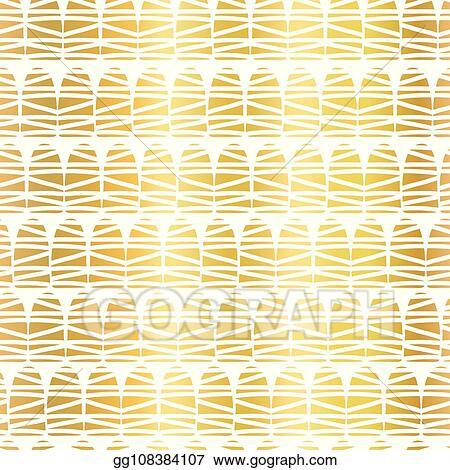 Clip Art Vector Gold Foil Geometric Doodle Shape Seamless