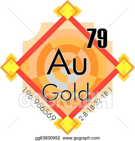 Clip Art Vector Gold Form Periodic Table Of Element Stock Eps
