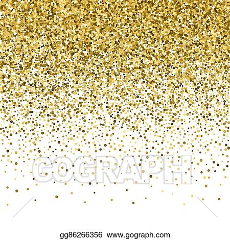 Clip Art Vector Gold Glitter Shine Texture On A Black