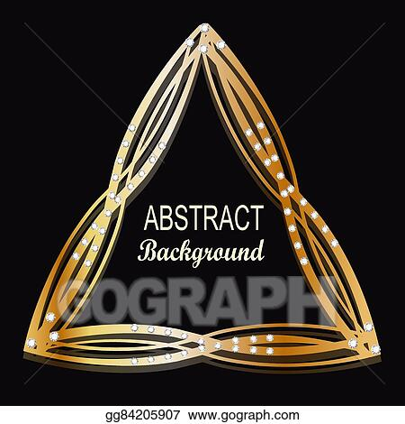 Eps Illustration Gold Jewelry Triangle Background Can Use