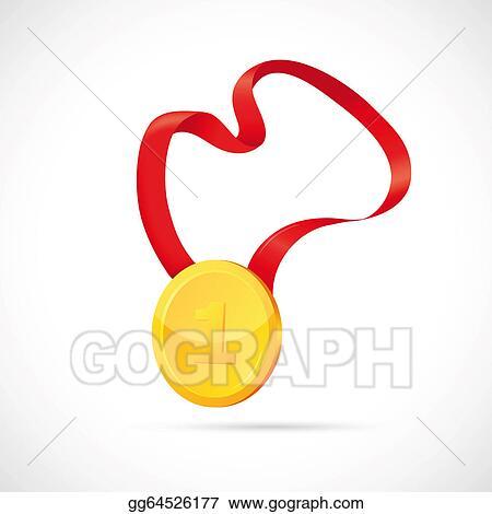 Stock Illustrations - Gold medal cartoon  Stock Clipart
