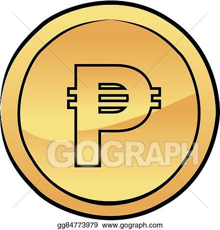vector stock gold peso coin vector icon stock clip art gg84773979 rh gograph com pirate gold coins clipart gold coins clipart black and white
