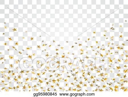 Confetti stars. Vector stock gold star