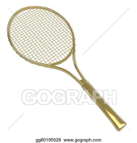 Drawing Gold Tennis Racquet Clipart Drawing Gg80190528 Gograph