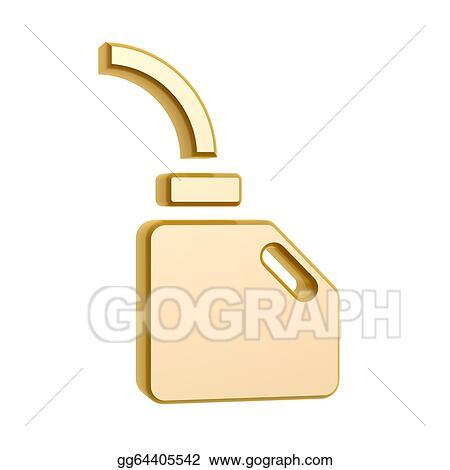 Clipart Golden Engine Oil Symbol Stock Illustration Gg64405542