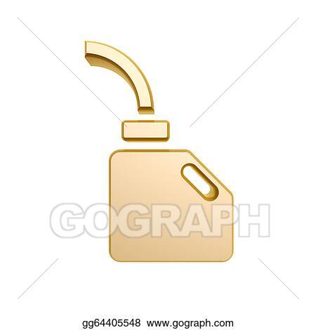 Clipart Golden Engine Oil Symbol Stock Illustration Gg64405548