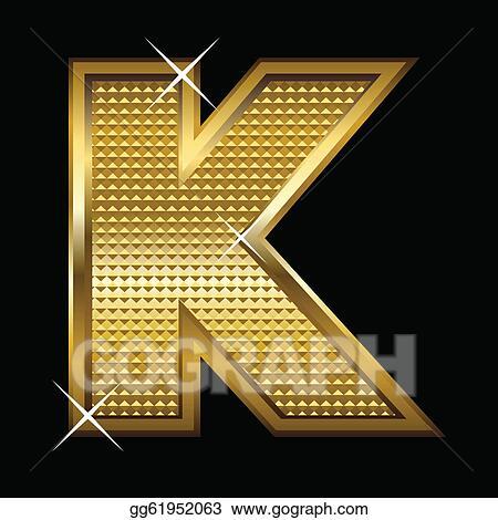 Clip Art Vector Golden Font Type Letter K Stock Eps Gg61952063