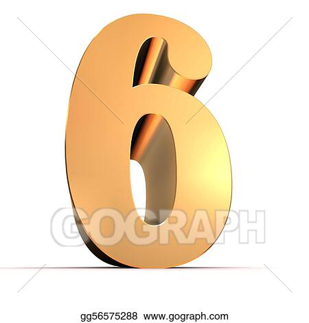 drawing 3d rendered illustration of an isolated golden number clipart drawing gg56575288