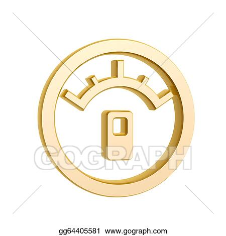 Stock Illustration - Golden oil meter symbol. Clipart Illustrations ...