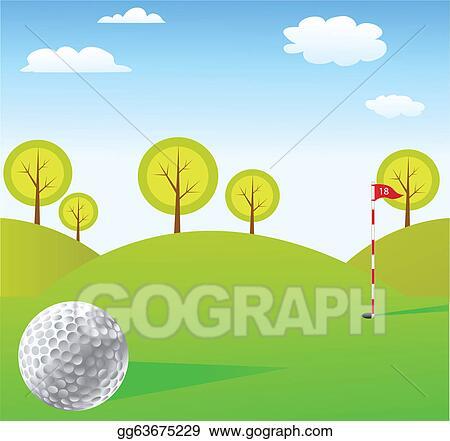 Vector Art Golf Background Clipart Drawing Gg63675229 Gograph