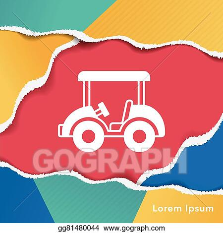 Vector Art - Golf cart icon. Clipart Drawing gg81480044 - GoGraph on