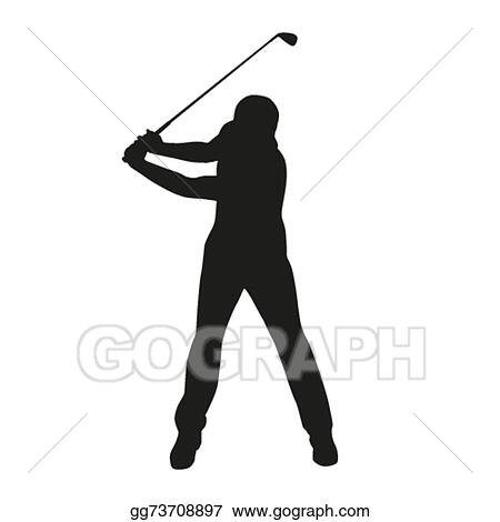 eps illustration golf swing isolated vector silhouette vector rh gograph com golf vector art free golf vector uniform