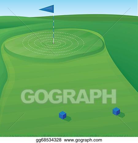 Vector Clipart Golf Target Illustration Vector Illustration Gg68534328 Gograph