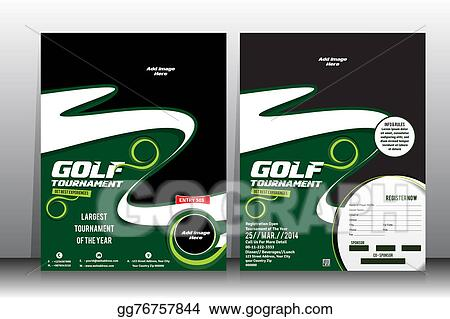 Clip Art Golf Tournament Flyer Brochure Template Stock