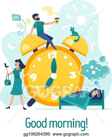 EPS Vector - Good morning  creative concept with characters