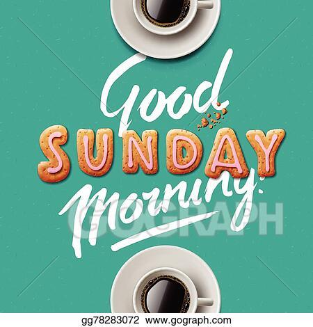 Vector Clipart Good Morning Sunday Vector Illustration