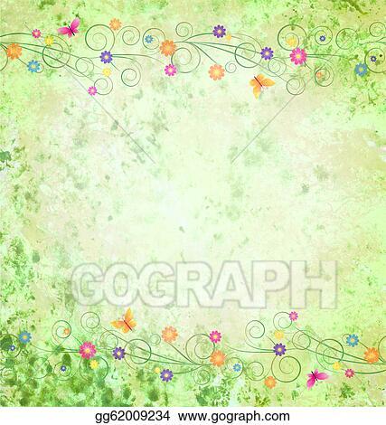 Clipart hintergrund blumen