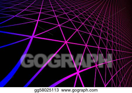Drawing Gradient Silhouette Hexagonal Grid Pattern Clipart